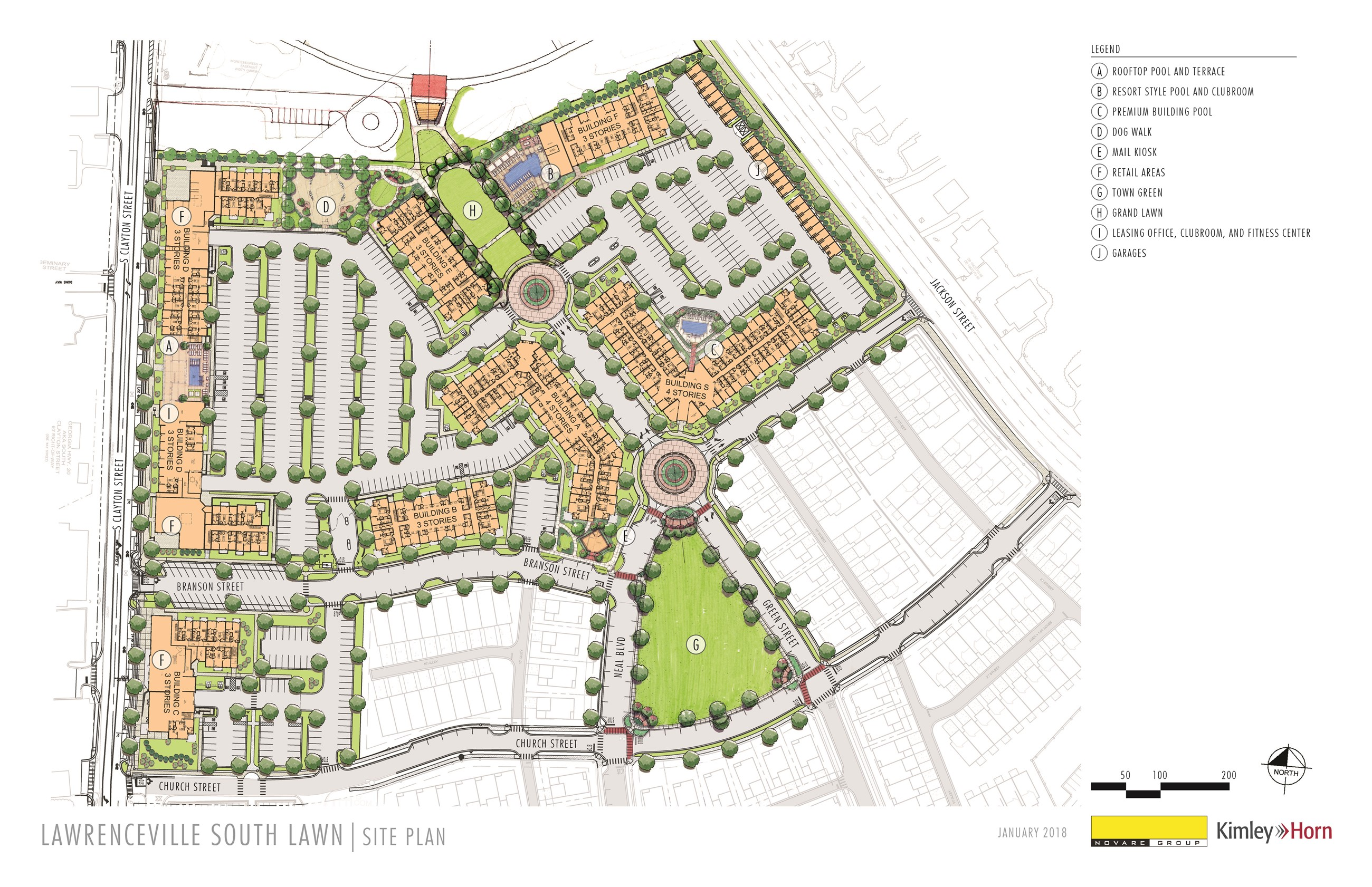 Picture of South Lawn Site Plan Render