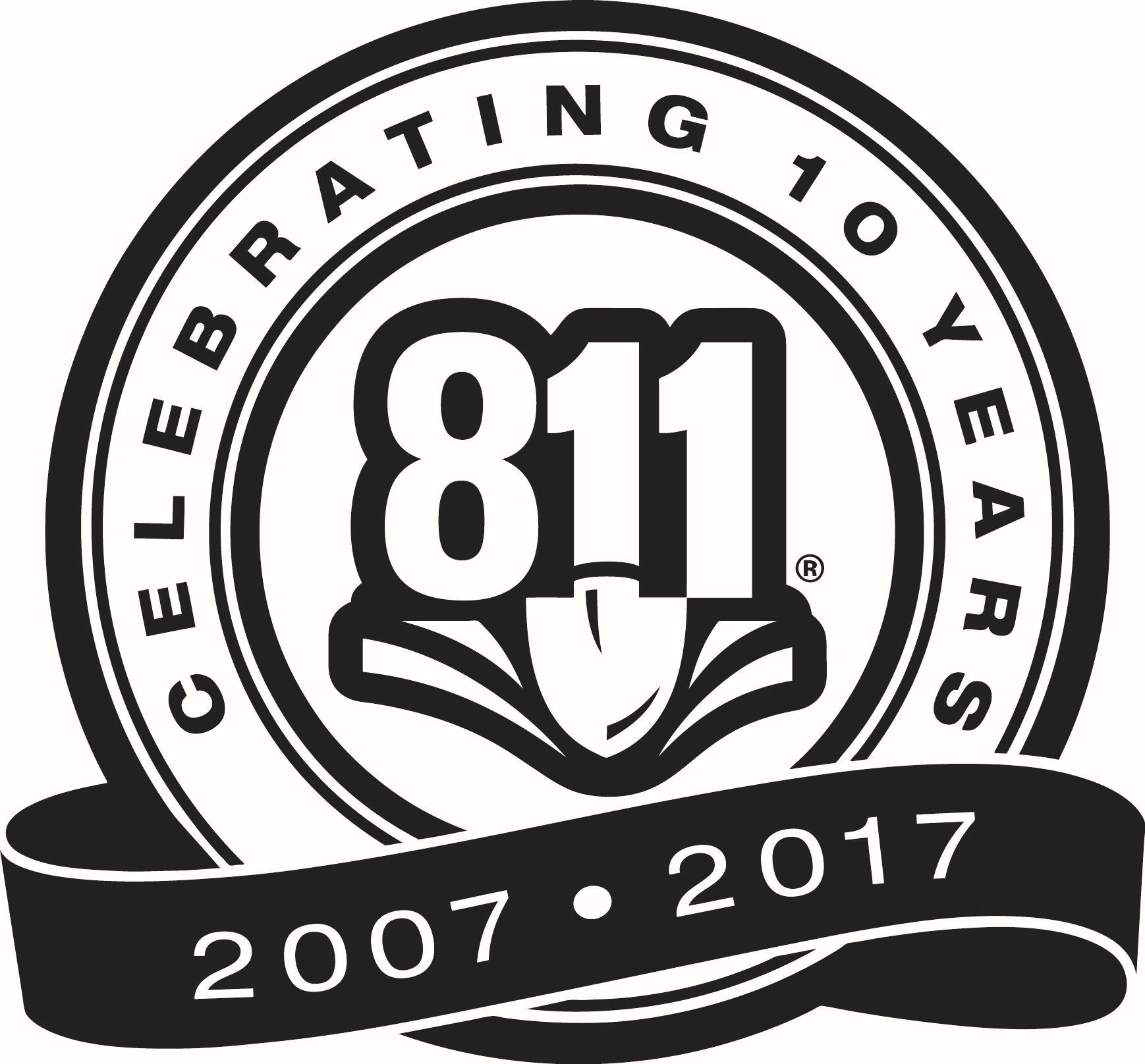 Celerate 10 Years 811 2007 - 2017 black and white logo