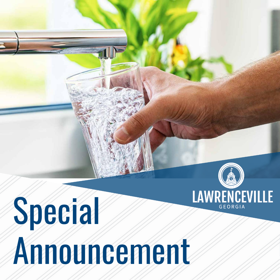 Water Special Announcement