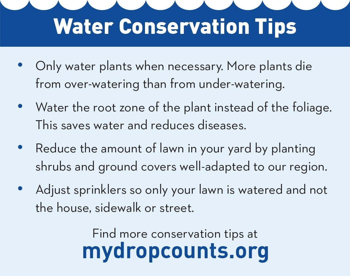 Water Conservation Tips graphic